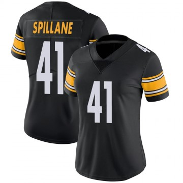 Women's Nike Pittsburgh Steelers Robert Spillane Black 100th Vapor Jersey - Limited