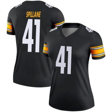 Women's Nike Pittsburgh Steelers Robert Spillane Black Jersey - Legend
