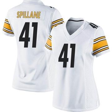 Women's Nike Pittsburgh Steelers Robert Spillane White Jersey - Game