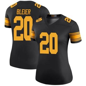 Women's Nike Pittsburgh Steelers Rocky Bleier Black Color Rush Jersey - Legend