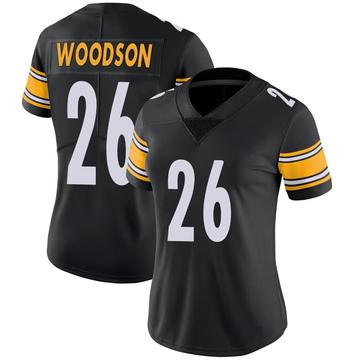 Women's Nike Pittsburgh Steelers Rod Woodson Black 100th Vapor Jersey - Limited