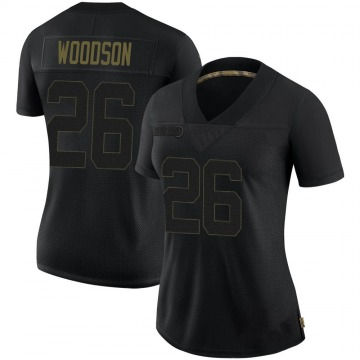 Women's Nike Pittsburgh Steelers Rod Woodson Black 2020 Salute To Service Jersey - Limited