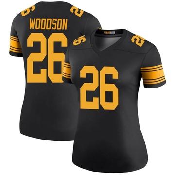 Women's Nike Pittsburgh Steelers Rod Woodson Black Color Rush Jersey - Legend