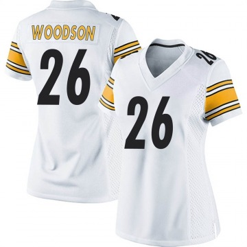 Women's Nike Pittsburgh Steelers Rod Woodson White Jersey - Game