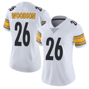 Women's Nike Pittsburgh Steelers Rod Woodson White Vapor Untouchable Jersey - Limited