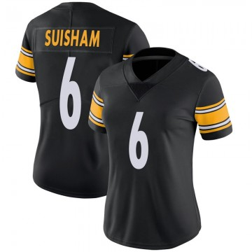 Women's Nike Pittsburgh Steelers Shaun Suisham Black 100th Vapor Jersey - Limited