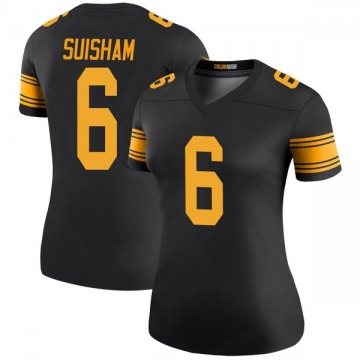 Women's Nike Pittsburgh Steelers Shaun Suisham Black Color Rush Jersey - Legend