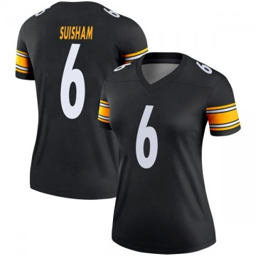 Women's Nike Pittsburgh Steelers Shaun Suisham Black Jersey - Legend