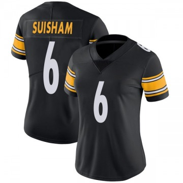 Women's Nike Pittsburgh Steelers Shaun Suisham Black Team Color Vapor Untouchable Jersey - Limited