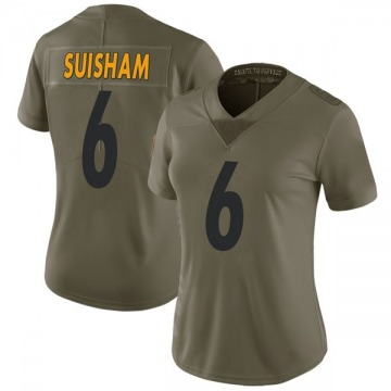 Women's Nike Pittsburgh Steelers Shaun Suisham Green 2017 Salute to Service Jersey - Limited