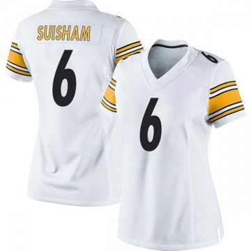 Women's Nike Pittsburgh Steelers Shaun Suisham White Jersey - Game