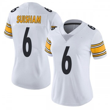 Women's Nike Pittsburgh Steelers Shaun Suisham White Vapor Untouchable Jersey - Limited