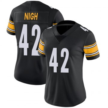 Women's Nike Pittsburgh Steelers Spencer Nigh Black 100th Vapor Jersey - Limited
