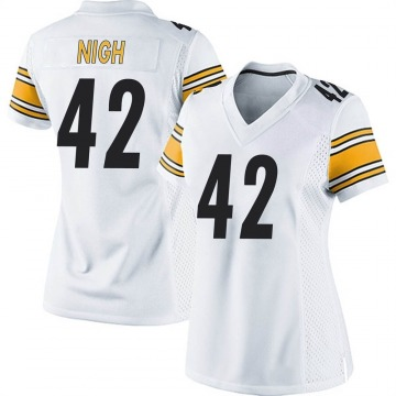 Women's Nike Pittsburgh Steelers Spencer Nigh White Jersey - Game