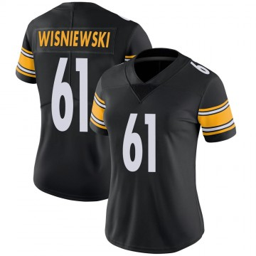 Women's Nike Pittsburgh Steelers Stefen Wisniewski Black 100th Vapor Jersey - Limited