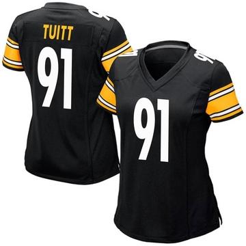 Women's Nike Pittsburgh Steelers Stephon Tuitt Black Team Color Jersey - Game