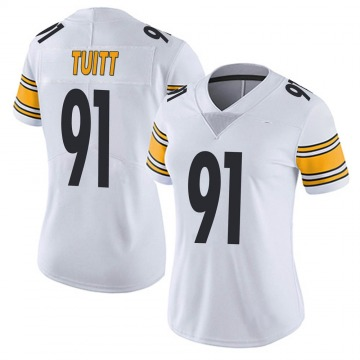 Women's Nike Pittsburgh Steelers Stephon Tuitt White Vapor Untouchable Jersey - Limited