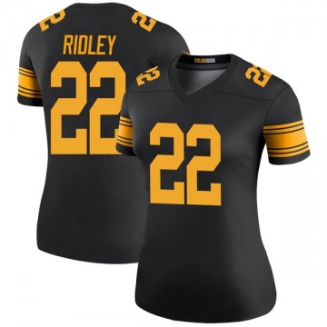 Women's Nike Pittsburgh Steelers Stevan Ridley Black Color Rush Jersey - Legend