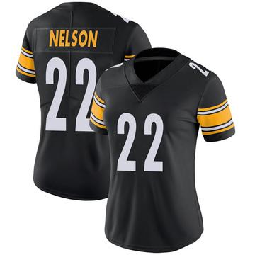 Women's Nike Pittsburgh Steelers Steven Nelson Black 100th Vapor Jersey - Limited