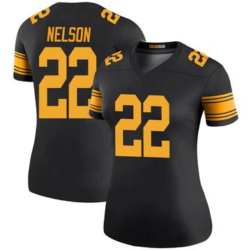 Women's Nike Pittsburgh Steelers Steven Nelson Black Color Rush Jersey - Legend