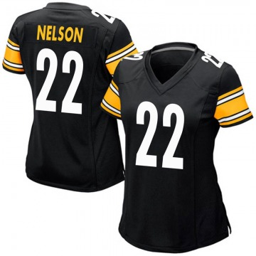 Women's Nike Pittsburgh Steelers Steven Nelson Black Team Color Jersey - Game