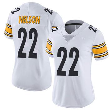 Women's Nike Pittsburgh Steelers Steven Nelson White Vapor Untouchable Jersey - Limited