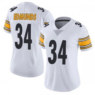 Women's Nike Pittsburgh Steelers Terrell Edmunds White Vapor Untouchable Jersey - Limited