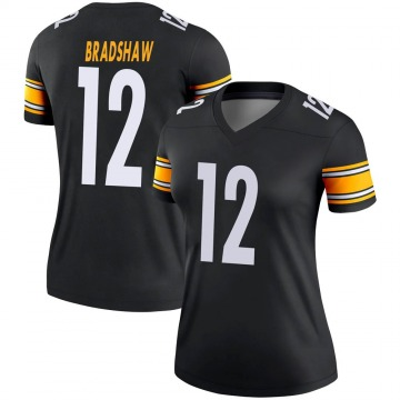 Women's Nike Pittsburgh Steelers Terry Bradshaw Black Jersey - Legend