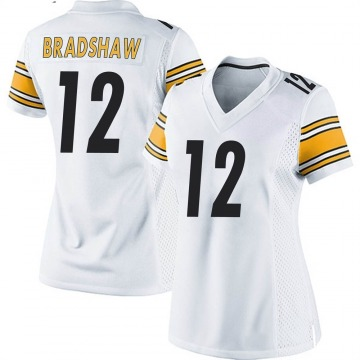 Women's Nike Pittsburgh Steelers Terry Bradshaw White Jersey - Game