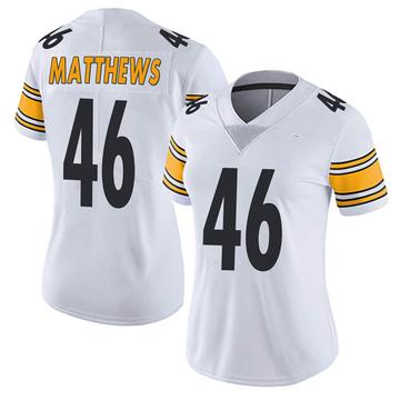 Women's Nike Pittsburgh Steelers Tray Matthews White Vapor Untouchable Jersey - Limited