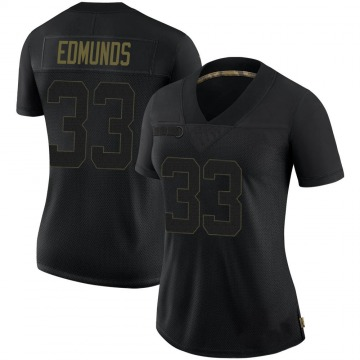 Women's Nike Pittsburgh Steelers Trey Edmunds Black 2020 Salute To Service Jersey - Limited