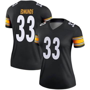 Women's Nike Pittsburgh Steelers Trey Edmunds Black Jersey - Legend