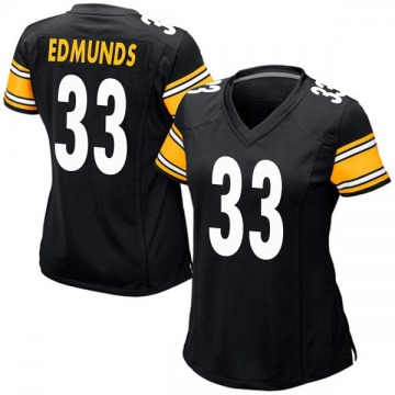 Women's Nike Pittsburgh Steelers Trey Edmunds Black Team Color Jersey - Game