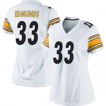 Women's Nike Pittsburgh Steelers Trey Edmunds White Jersey - Game