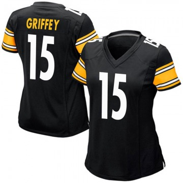 Women's Nike Pittsburgh Steelers Trey Griffey Black Team Color Jersey - Game