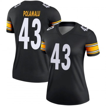 Women's Nike Pittsburgh Steelers Troy Polamalu Black Jersey - Legend