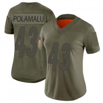 Women's Nike Pittsburgh Steelers Troy Polamalu Camo 2019 Salute to Service Jersey - Limited