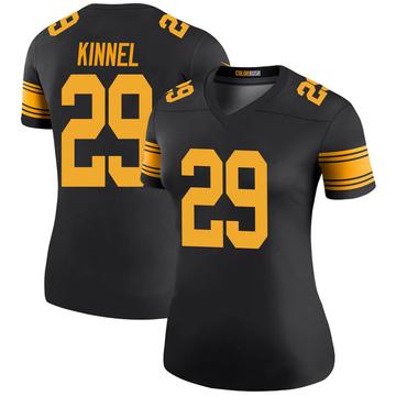 Women's Nike Pittsburgh Steelers Tyree Kinnel Black Color Rush Jersey - Legend