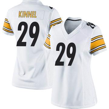 Women's Nike Pittsburgh Steelers Tyree Kinnel White Jersey - Game