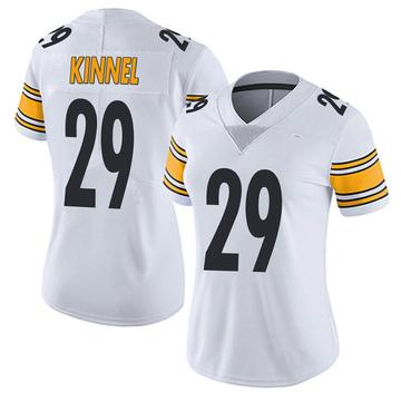 Women's Nike Pittsburgh Steelers Tyree Kinnel White Vapor Untouchable Jersey - Limited