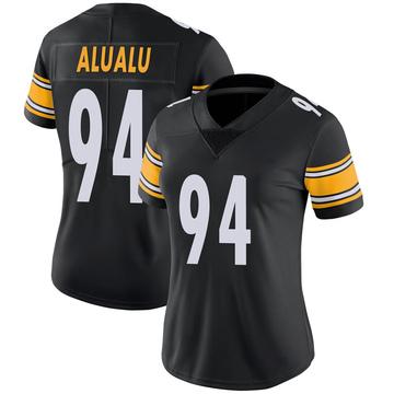 Women's Nike Pittsburgh Steelers Tyson Alualu Black 100th Vapor Jersey - Limited