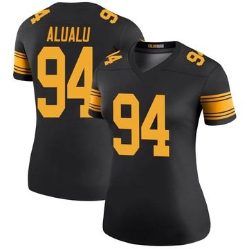 Women's Nike Pittsburgh Steelers Tyson Alualu Black Color Rush Jersey - Legend