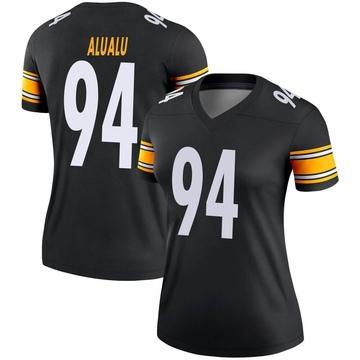 Women's Nike Pittsburgh Steelers Tyson Alualu Black Jersey - Legend