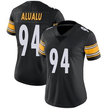 Women's Nike Pittsburgh Steelers Tyson Alualu Black Team Color Vapor Untouchable Jersey - Limited