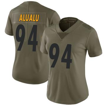 Women's Nike Pittsburgh Steelers Tyson Alualu Green 2017 Salute to Service Jersey - Limited
