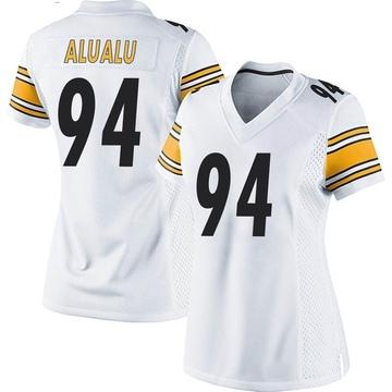Women's Nike Pittsburgh Steelers Tyson Alualu White Jersey - Game