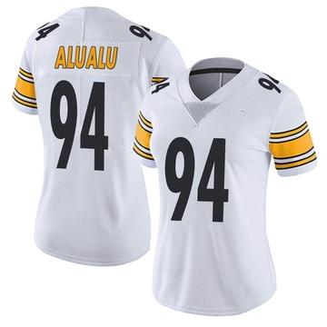 Women's Nike Pittsburgh Steelers Tyson Alualu White Vapor Untouchable Jersey - Limited