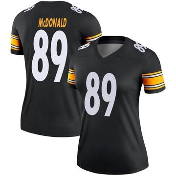 Women's Nike Pittsburgh Steelers Vance McDonald Black Jersey - Legend