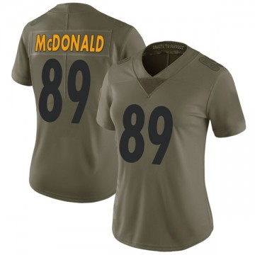 Women's Nike Pittsburgh Steelers Vance McDonald Green 2017 Salute to Service Jersey - Limited