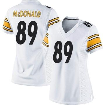 Women's Nike Pittsburgh Steelers Vance McDonald White Jersey - Game